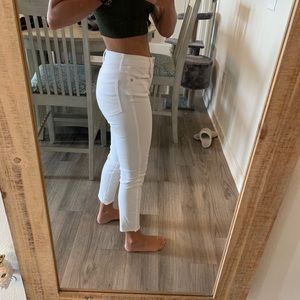 Areopostle white high waisted cropped Jeggings